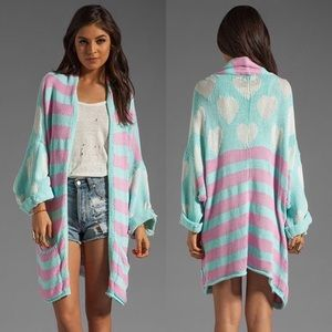 Rare Wildfox American Love slouch cardi XS